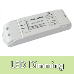 Dimming for LED lights