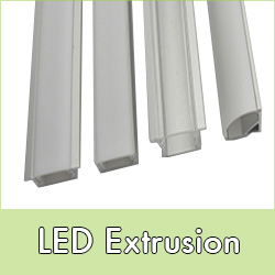 Aluminium extrusions for LED lights