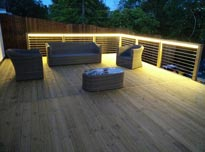 12V LED strip lights for decking