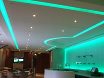 12V LED strip lights in a hospitality bar