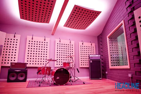 Headline Studios lit by LED strip lighting