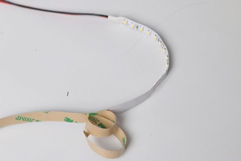 LED light strips come with 3m self-adhesive tape on the back for quick and easy installation