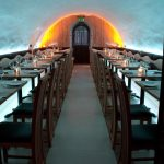La Perla Restaurant - LEDs lit in the arch zone only