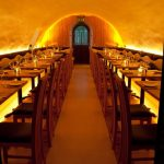 La Perla Restaurant - LEDs create a golden glow