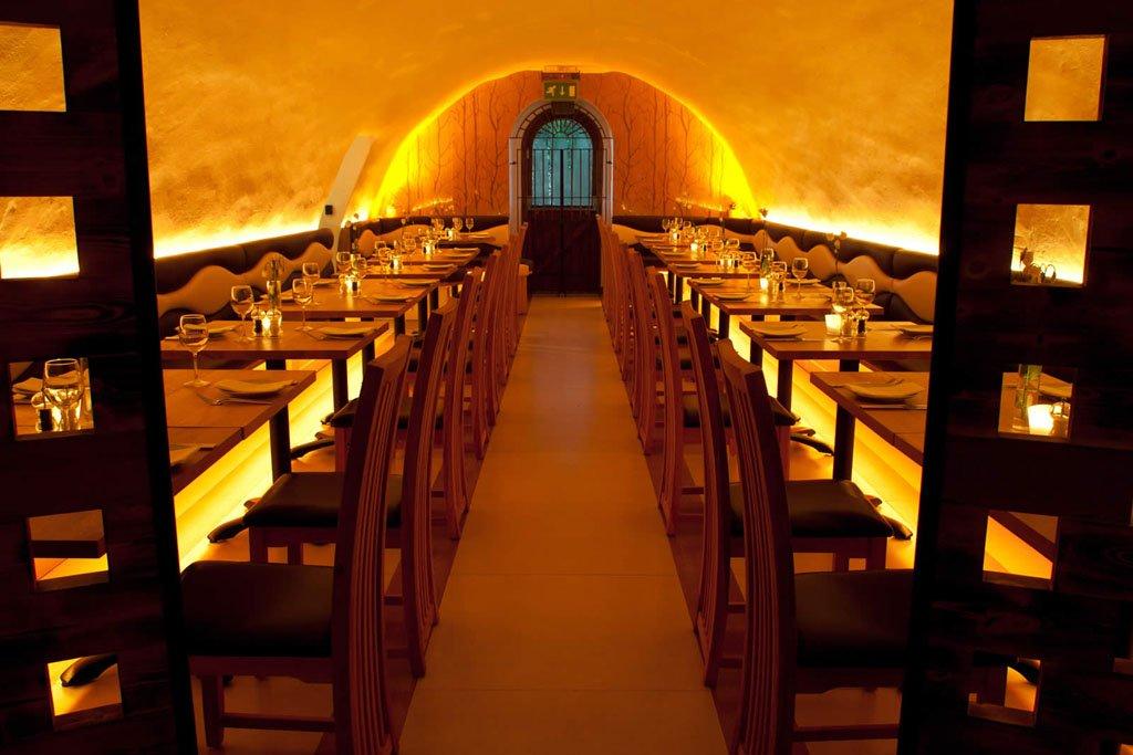 La Perla - colour-change LEDs in Bath restaurant & tapas bar