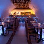 La Perla Restaurant - blue LED light in the dining space