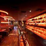 Laska Bar full-length shot showing LED lighting