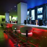 Sence bar seating - red LEDs