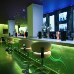 Sence bar seating - leaf-green LEDs