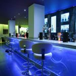 Sence bar seating - blue LEDs