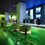 Sence bar seating - sea-green LEDs