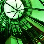 Inside the Sence dome - green LEDs