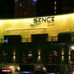 Sence nightclub exterior LEDs set to yellow light