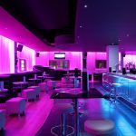 Sense bar area: 2 LED zones - mauve & blue lighting