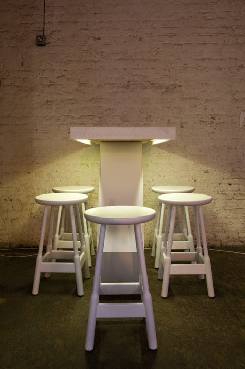 White LED tape 4.8w -table downlighting