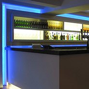 Led tape high quality led strip lights next day delivery 48w 3528 blue led tape lights used around a bar aloadofball Choice Image