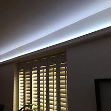 5 watt white coving effect shot - 12 volt LED strip lights