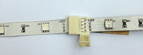 LED strip light tape-to-tape connector (open)