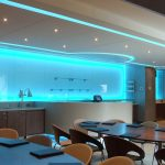 Machester City FC VIP box - sky-blue LEDs