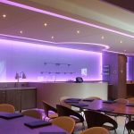 Machester City FC VIP box - lilac LEDs