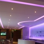 Machester City FC Directors Lounge - mauve LEDs
