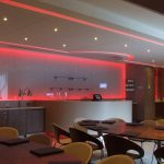 Machester City FC VIP box - red LEDs