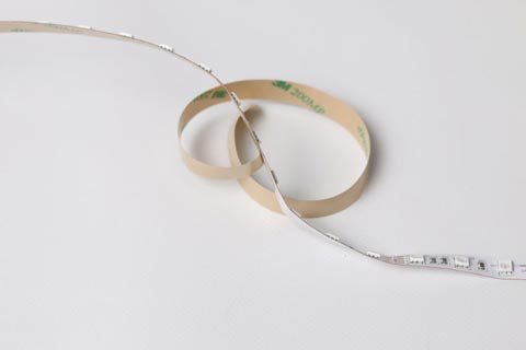 Colour changing LED strips are supplied with 3M self-adhesive backing for easy installation