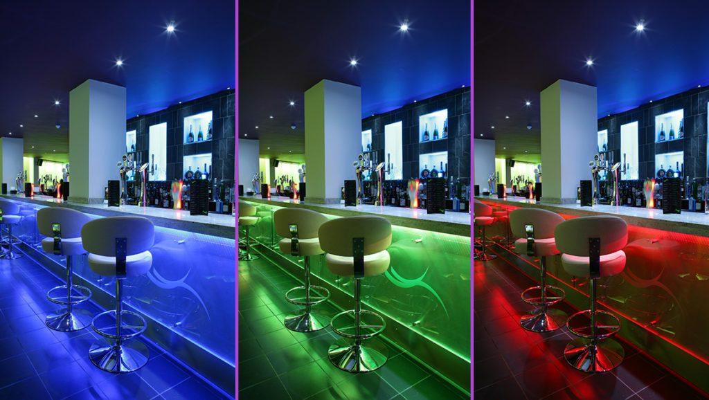 RGB LED interiér
