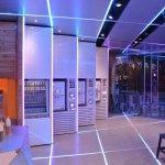 Samba Swirl machines - lilac and blue LED palette