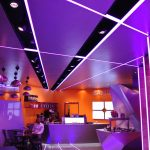Samba Swirl ceiling LED strip - purple colour sequence