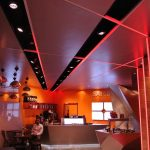 Samba Swirl ceiling LED strip - red colour sequence