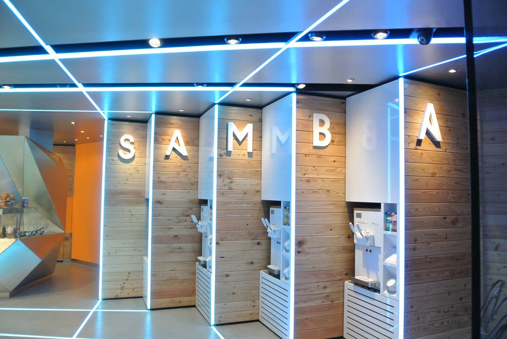 The Samba Swirl Store Design Was Inspired By Brazilian Carnival Culture For Its Vibrant Colour And Happiness Well Being Using This To Help Mizzi