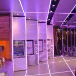 Samba Swirl machines - mauve LED palette