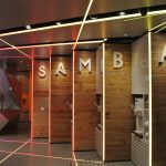 Samba Swirl yoghurt dispenser - golden LED light