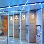 Samba Swirl yoghurt dispenser - pastel blue LED light
