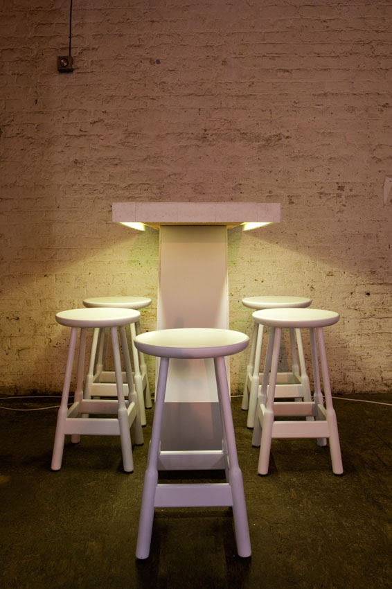 White LED tape 4.8w - table downlighting