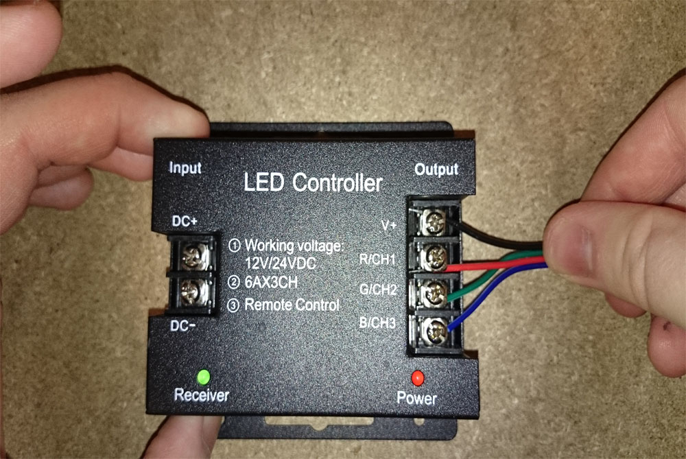 How to wire an RGB LED controller   step-by-step guide