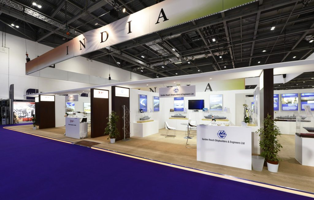 Exhibition Stand Used : Instyle s orange led strip lights on display at dsei