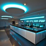 Restaurant 7.2 watt (5050 SMD) RGB LED tape set to blue