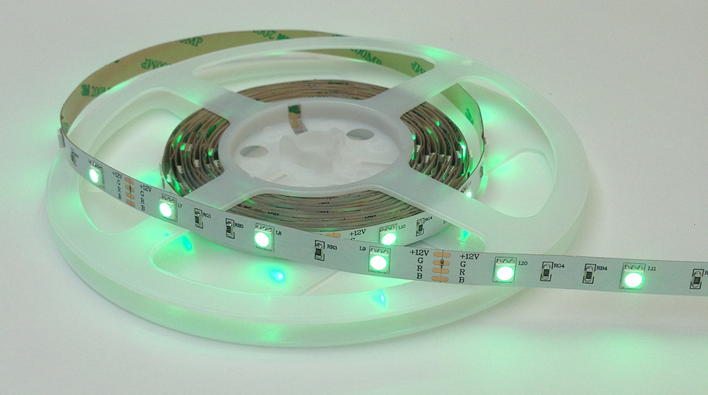 7 5 Watt 12v  24v Rgb Colour Changing Led Tape 5050smd