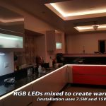 Warm white light from RGB LEDs