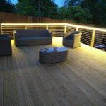 10-watt Decking LEDs create a golden glow