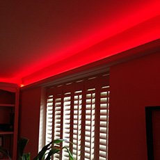 5-watt red LED strip - coving effect shot