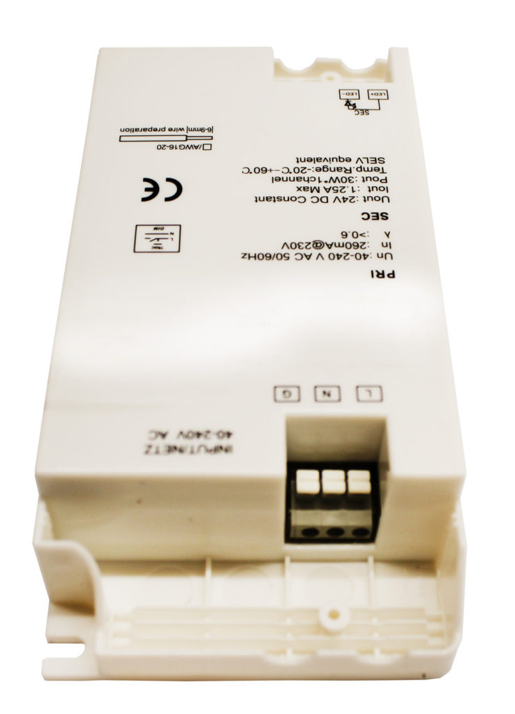 Varilight  240V AC to 12V DC Dimmable Converter for LED Strip max 40W