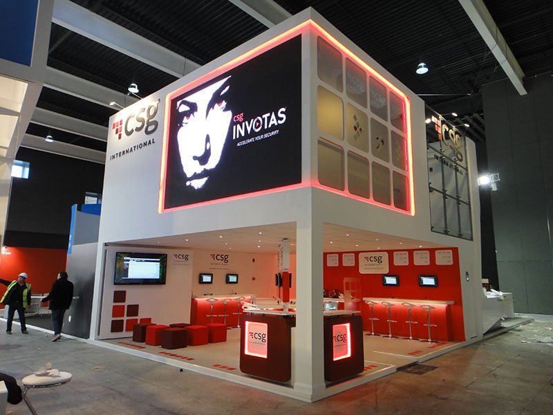 4.8w Red LED Tape used on an exhibition stand