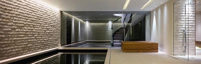 Luxury apartment swimming pool - LED high-end residential project