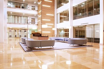 DALI control is ideal for lighting control in large business premises
