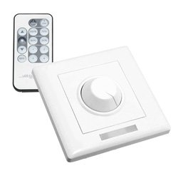 TRIAC wall dimmer with pre-paired remote control