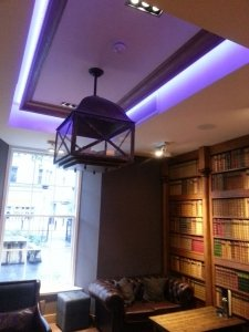 RGB LED Tape installed in a library