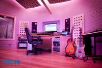 LED working-lights in this recording studio